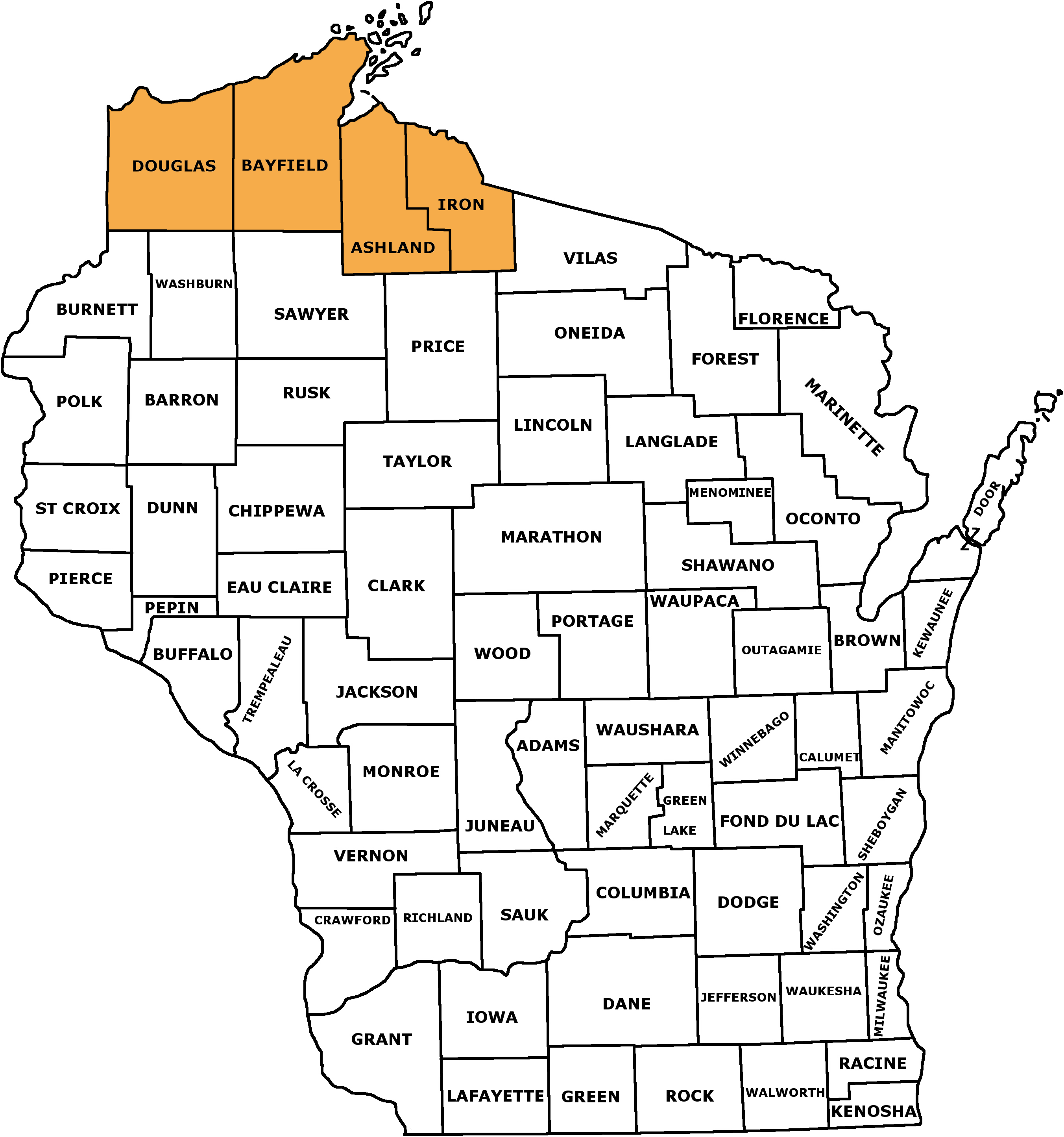 NFMI counties map